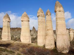 Formações rochosas da Capadocia.