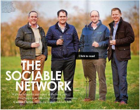 Tom Browne, Richard Massie, Adam Collantine e Mark Seller do Clube Pedra Bruta de Ceshire, Inglaterra