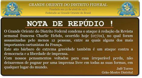 NOTA DE REPUDIO GODF